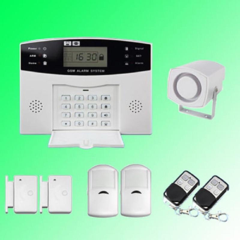 YobangSecurity Russian French Spanish Italian Czech Voice House Alarm System Wireless GSM with PIR Detector Door Alarm Sensor