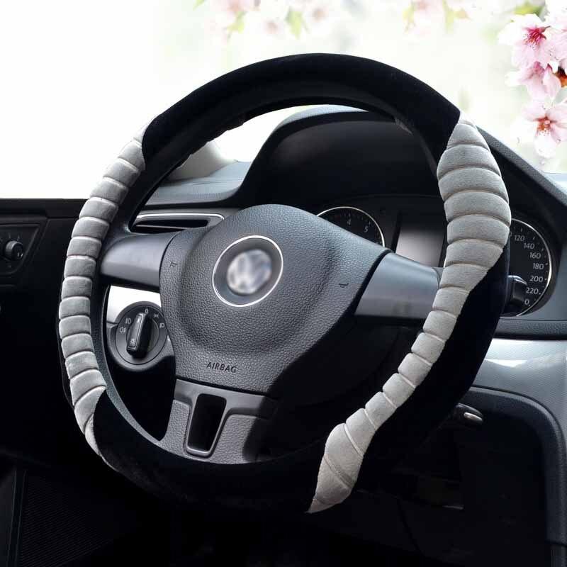 Hiver 6 couleurs couverture de volant en peluche fourrure voiture volant couvre Auto roues cas 35/36/37/38/39/40 cm livraison directe