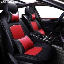 Автомобильные путешествия пользовательские натуральная кожа Чехол автокресла для Jaguar XJ XJL XF XE XFL XEL автомобилей чехлы автокресел протектор