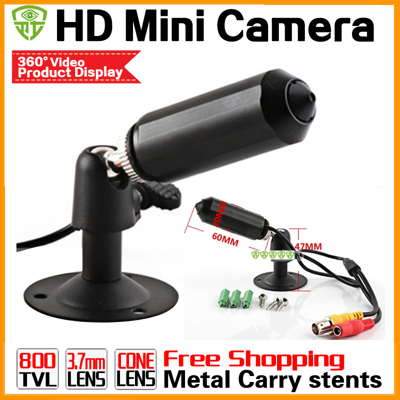New Super HD CCTV Mini Camera 800tvl Micro Surveillance metal Small Bullet Security 3.7mm surveillance products with Bracket micro bullet seurity surveillance bullet ccd camera with headset holder