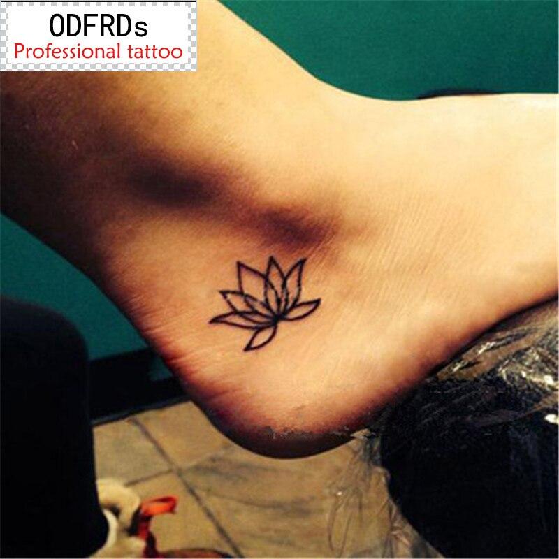 Водоотпорна привремена тетоважа татоо кана лажни фласх наљепнице за тетоваже Тати татто Цолорфул лотус СИА022