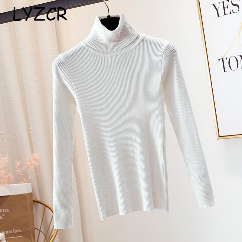 Women Turtleneck Sweater Knitwear Thick Winter Warm Women 39 s Turtleneck Pullover Sweater For Women White Sweaters Female 2019 in Pullovers from Women 39 s Clothing