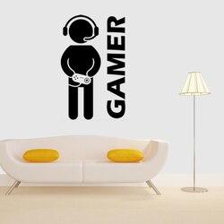 Autocollant de sport de haute qualité pour gamer sticker mural pour chambre de garçon