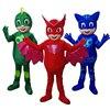 2017 New Mascot Costumes Parade Quality PJ Mask Birthdays Catboy Cosplay Costumes