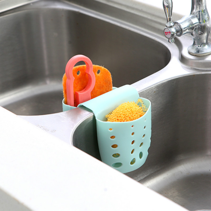 install sponge hanger faucet cat hanging rack shelf kitchen item button storage cartoon racks holder washing holders sink in pvc lot