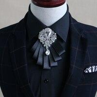 Neues Freies Verschiffen mode männlichen MÄNNER 2016 hochzeit mehrschichtigen bogen diamant kragen Koreanische bräutigam groomsman krawatte auf verkauf