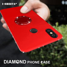 3D Bling Diamond Case For Huawei P20 Lite Pro Silm Soft TPU 360 Magnetic Ring Stand Cover P Smart P8 P9 P10 2017 Plus
