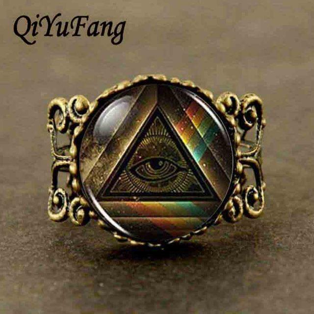 Qiyufang Steampunk Mood Masonic Ring Band Free Mason