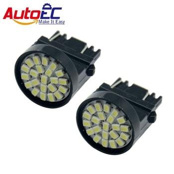 AutoEC 100X T25 3156 3157 1206 22 smd led 3456 3457 4157 Car Turn Signal light White 12V #LE01
