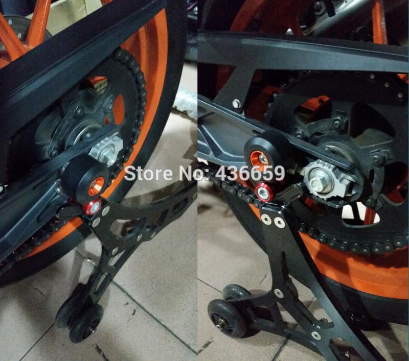 Motorcycle Front/Rear Fork Wheel Frame Slider Crash Pads For KTM 125 ...
