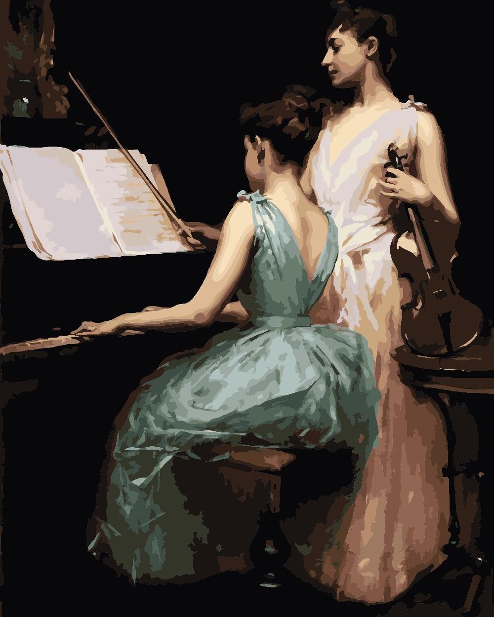 Resultado de imagen para dibujo piano y mujer