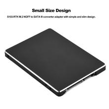 S103-1N M.2 NGFF в SATA III 2.5in M.2 NGFF в SATA SSD HDD корпус для 2242/2260/2280 мм NGFF M.2 SSD черный