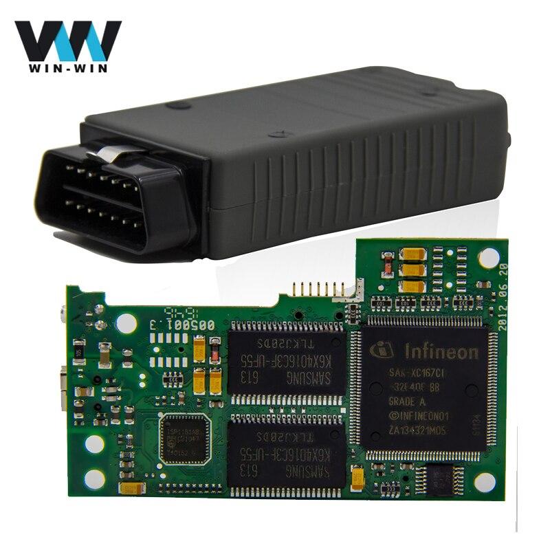 Prix pour Haute Qualité VAS 5054A Plein D'origine OKI Puce ODIS V4.0.0/4.13 Bluetooth Outil De Diagnostic VAS5054A OKI Puce OBD OBD2 voiture-détecteur