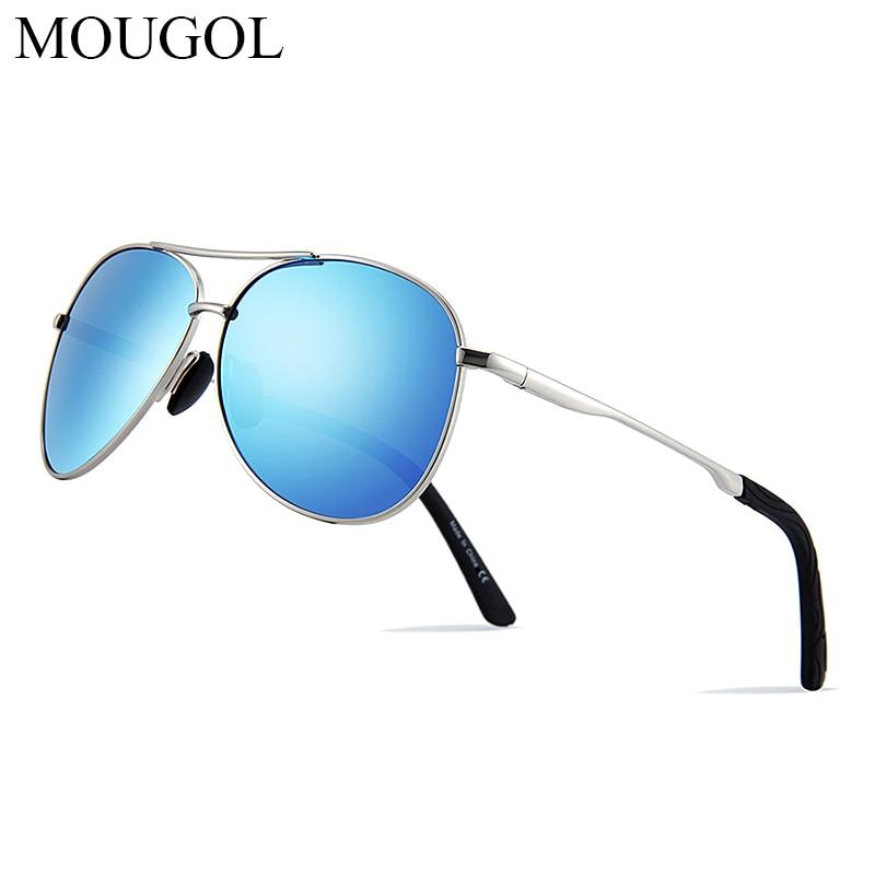 MOUGOL 2019 Pilot Polarized Sunglasses Men Women Metal Frame Spring Hinge Driving Sun Glasses Male Retro Sunglasses in Men 39 s Sunglasses from Apparel Accessories