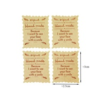 100 Pcs/lot Original Handmade Sealing Sticker Vintage kraft Stickers DIY Hand Made For Gift Cake Baking packaging Label