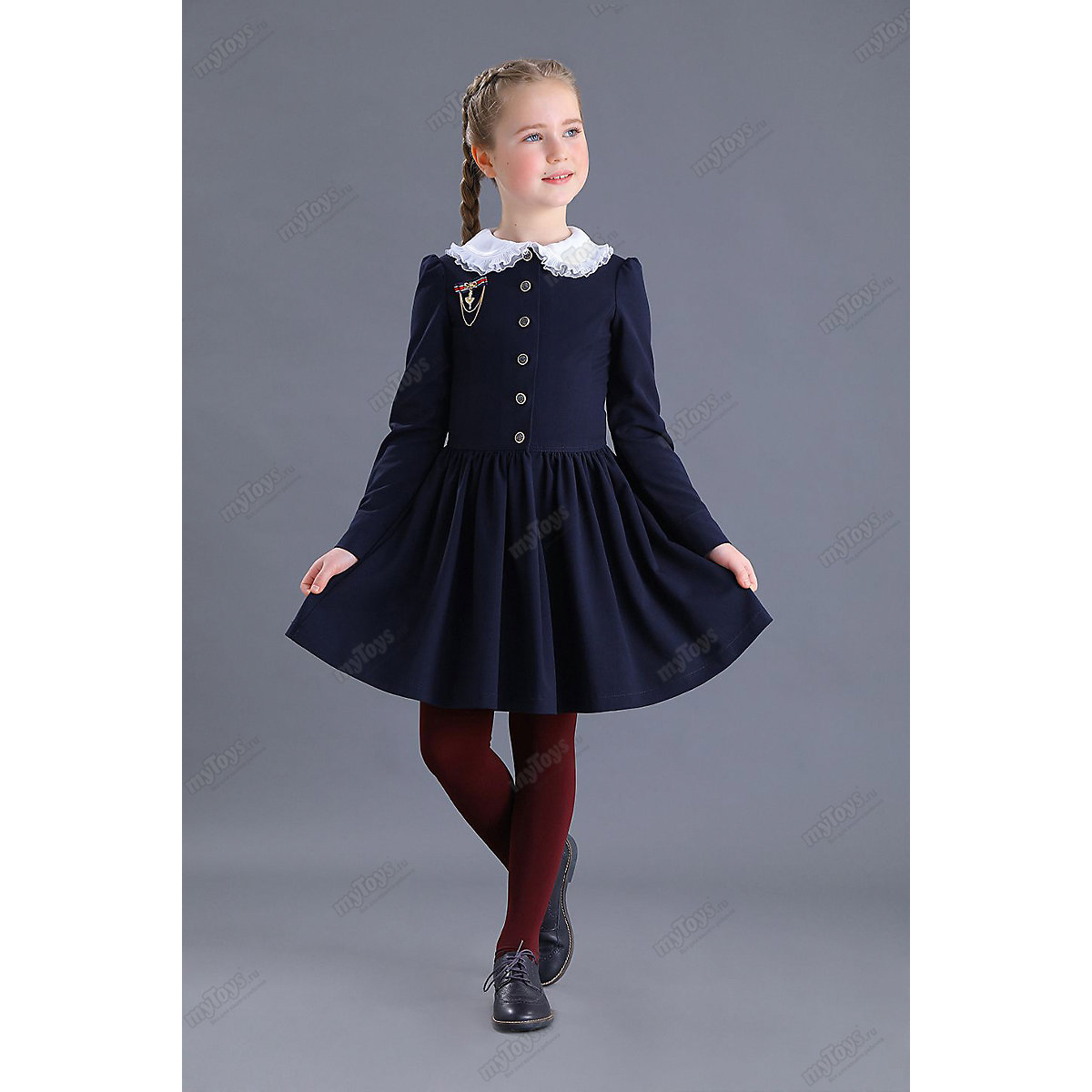Malenkaya Lady Dresses 11685654 school uniform dark blue for girls [wamami] 300 gril school uniform suit 1 3 sd bjd dollfie