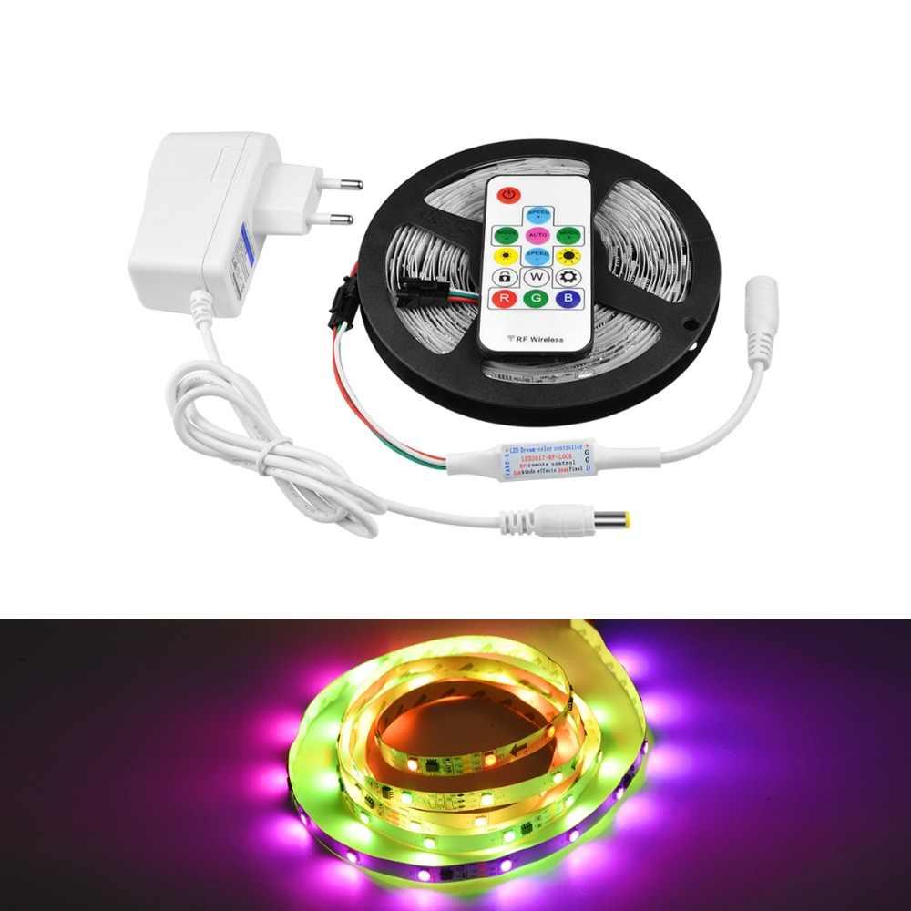Цветная (RGB свет для кабинета лампы Smart Pixel линейное светодиодное освещение 5050 программируемый прибор приемно-WS2811 IC у телевизора на кухне Подсветка светодиодный лазерный диод