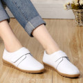 Spring and autumn new flat with singles shoes comfortable flat shoes slip elderly mother shoes white nurse shoes, free shipping