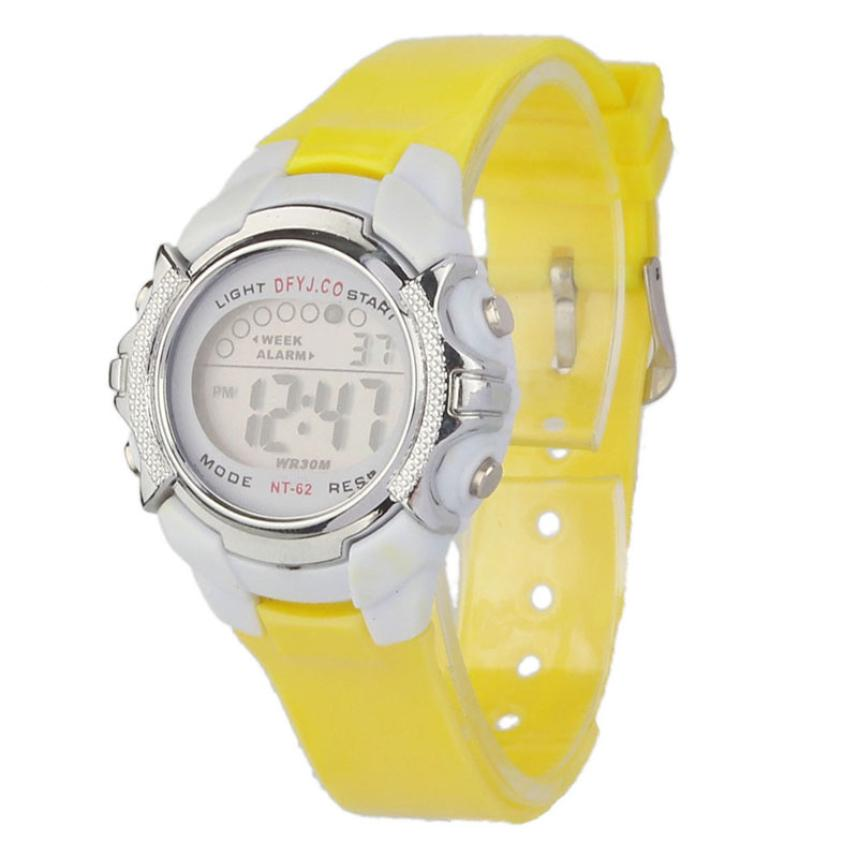 2017 Hot / Casual Fashion Children Digital LED Alarm Data Quartz - Męskie zegarki - Zdjęcie 2