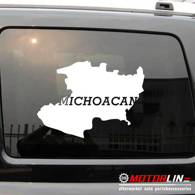 Michoacan State Map.Michoacan Map Outline Mich Mexico State Morelia Mexican Car Decal