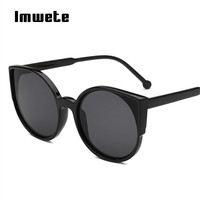 Imwete Brand Cat Eye Sunglasses Retro Coating Refl ...