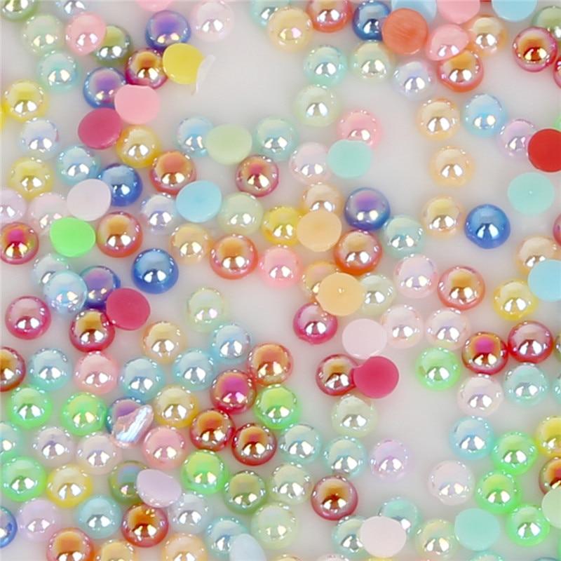 3-мм 14 мм 50-1000 шт. абс пластиковые бусины имитация жемчуга бусины полукруглые плоские задние бусины для изготовления ювелирных изделий DIY аксессуары