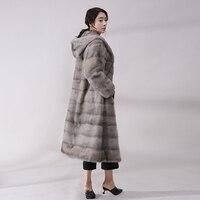 НОВЫЙ реального норки пальто с мехом Женский всего норки естественно пальто с мехом норки трава Cap простой темперамент был тонкий