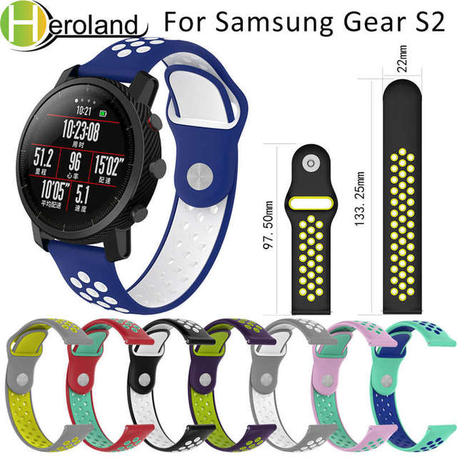 20 22MM silicone watch strap band For samsung gear s3 frontier Classic sport s2