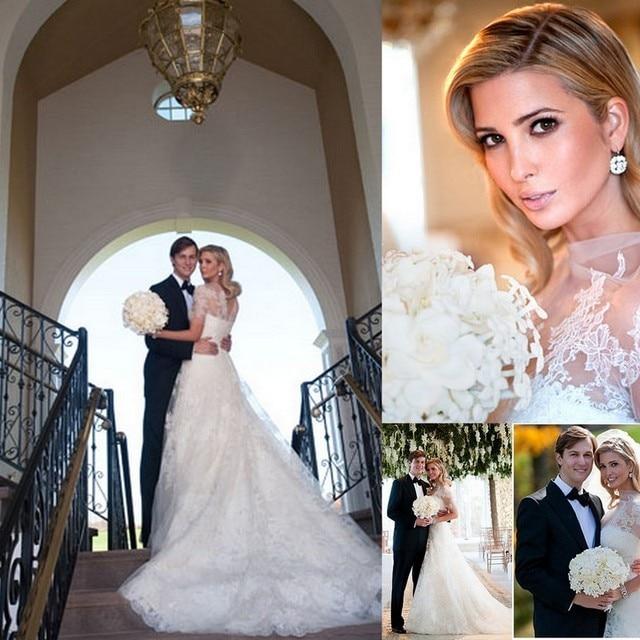 ivanka trump celebrity vestido de novia inspirado en gracia kelly