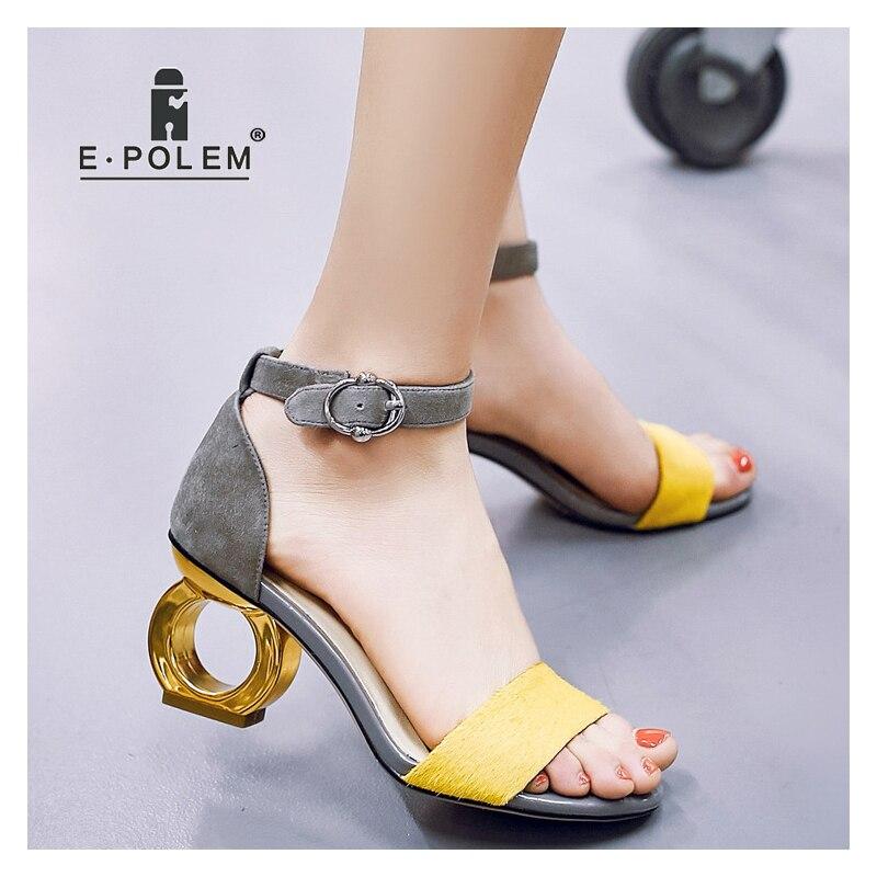 Новинка; модные босоножки на высоком каблуке с открытым носком; Модные женские пикантные сандалии гладиаторы на высоком каблуке 8 см; женская обувь для вечеринок; модельные туфли - 4