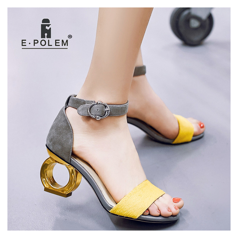 New Fashion Peep Toe High heeled Sandals Trendy Women Sexy 8CM High Heels Gladiator Sandals Footwear Female Party Dress Shoes - 4