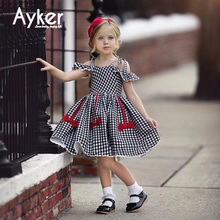 Girl Dress Summer Princess Dress Party Wedding Kids Girl Clothes Children Flying Sleeve Summer Kids Long Dresses for Girls girl dresses new surprise cartoon pattern flying sleeve big eye doll children s dress