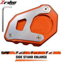 FOR Motorcycle Kickstand Foot Side Stand Extension Pad Support Plate For KTM 1050 1090 1190 1290