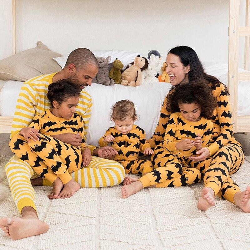 Family Christmas Costume Family Matching Children Halloween Clothing Boy Girl  Printed Pajamas Sets Family Matching Sleepwear