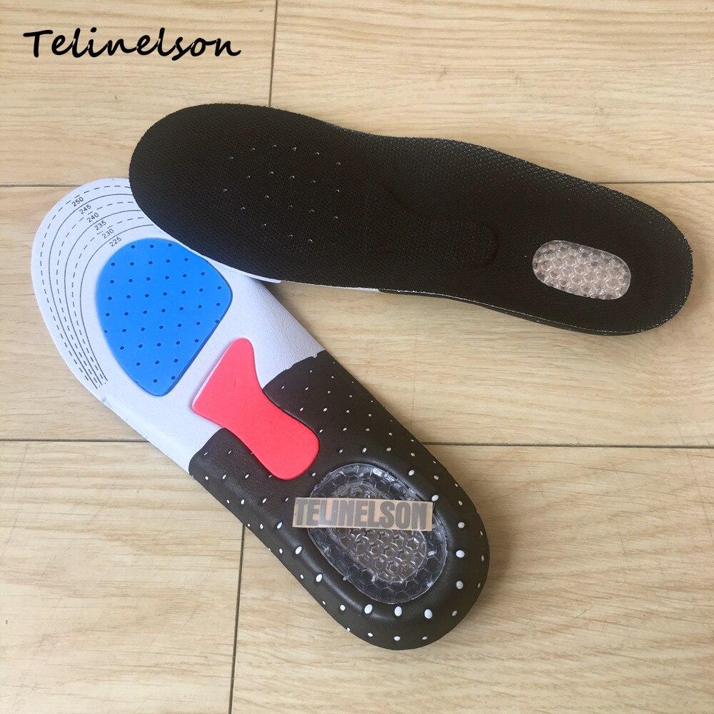 Tamaño 35-39 Orthotic Arch soporte Sport Shoe Pad Deporte Running Gel insertar cojín plantillas para la protección hombres mujeres pie
