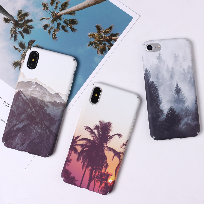Luxury Landscape Natural Scenery Pattern Phone Case For