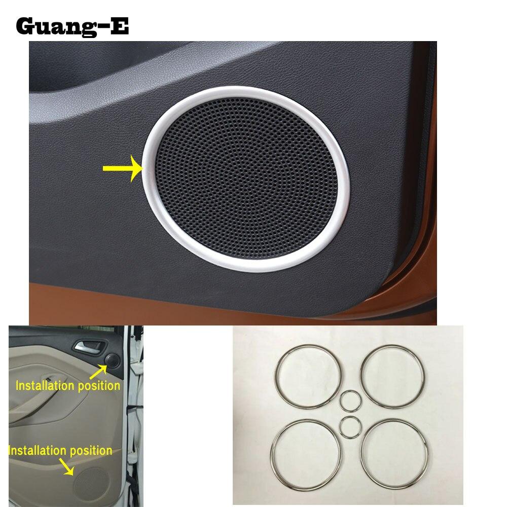 Puerta del coche cubierta de recorte estéreo círculo interior audio ...