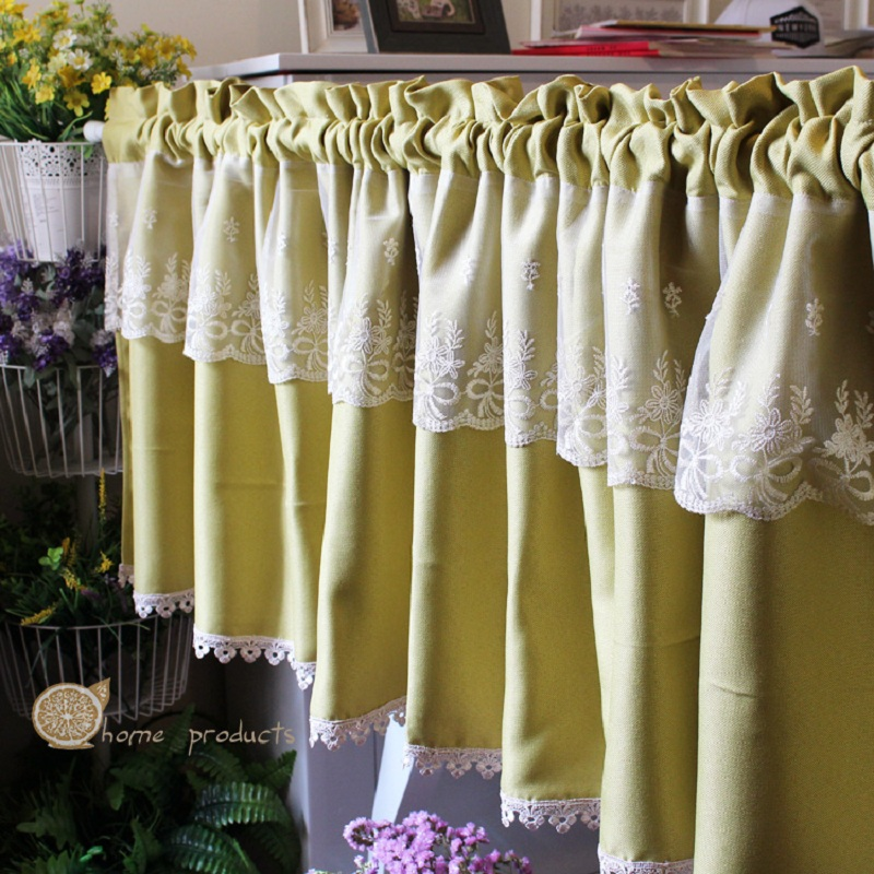 Green Kitchen Curtains Yellow And