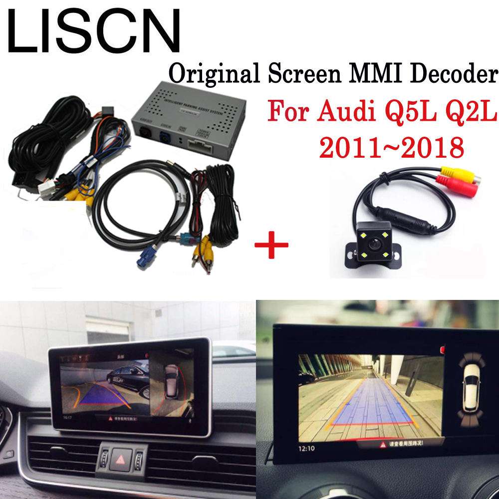 Reversing Camera Interface Adapter Original Screen Monitor For Audi Q5L Q2L 2011~2018 2016 Parking Rear Camera MMI Decoder