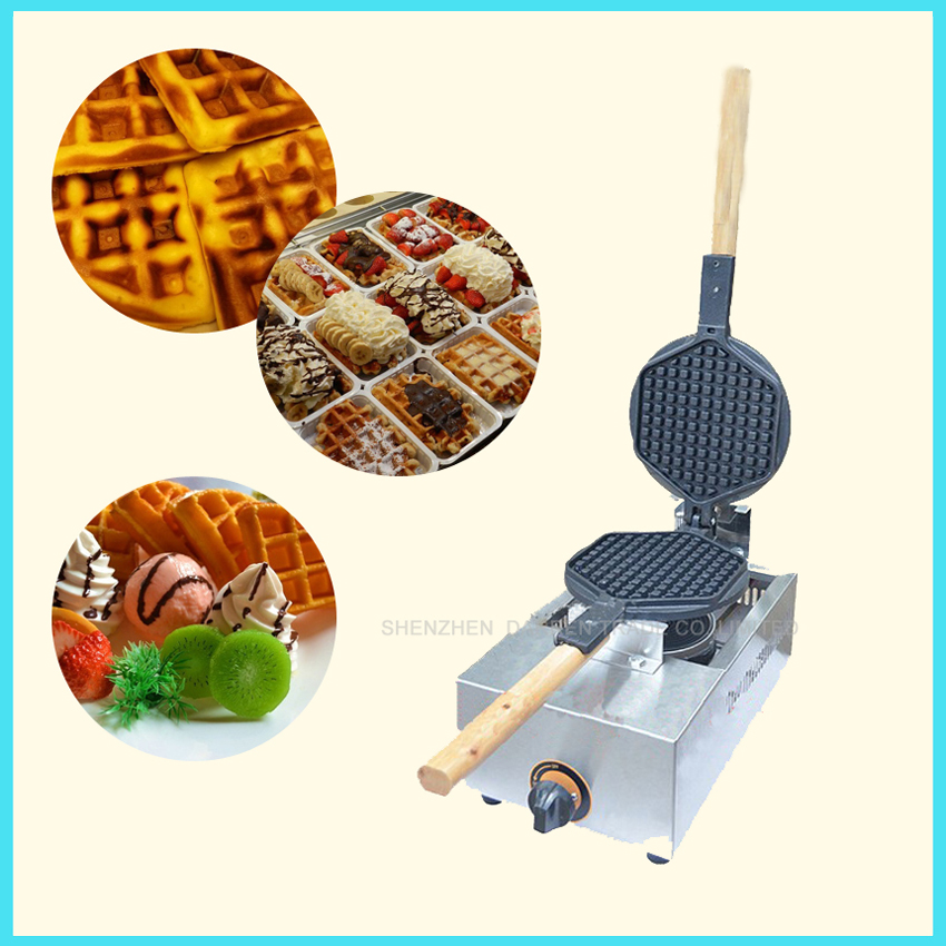 GAS type Egg Waffle maker with non-stick cooking surface square waffle pan HK style gas waffle pan waffle maker machine FY-1.R 7 in multifunction egg waffle maker donut machine heart waffle maker cake pop machine waffle machine non floating type zm 277