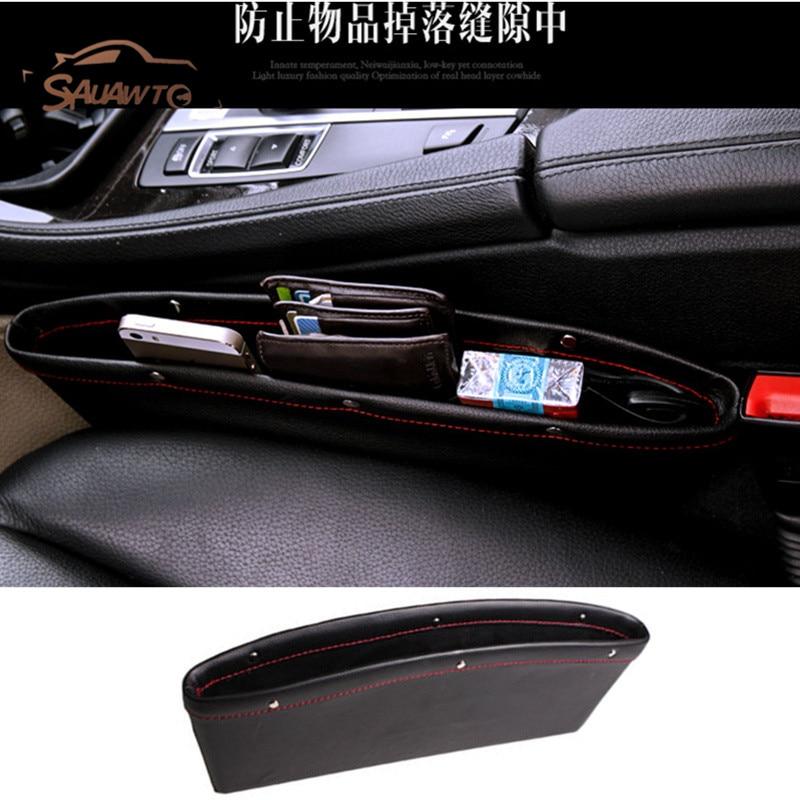 цена на Car Seat Gap Filler Pocket Storage Organizer For mitsubishi asx lancer 9 10 pajero outlander l200 colt galant