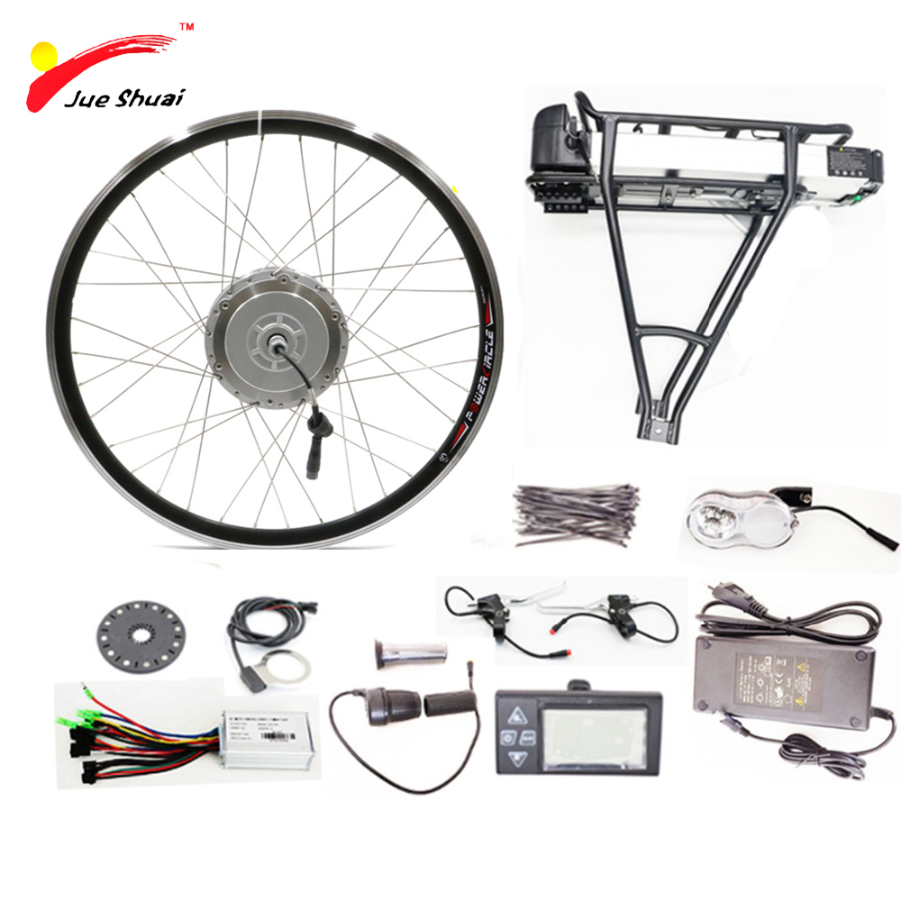 36V 500W Electric Bike Conversion Kit with Battery Brushless Hub Wheel Motor for Bicycle Bike Ebike kits bicicleta electrico e bike 24v 500w motor with disc brakes hub electric bicycle ebike conversion kit front or rear wheel new details about