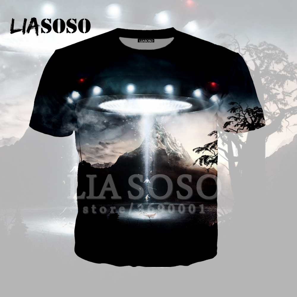 431b1641a704 Detail Feedback Questions about LIASOSO 3D Print Women Men UFO Alien  Mountain O neck t shirt Hooded Hoodie Sweatshirt Cool Casual High quality  Tops A257 on ...