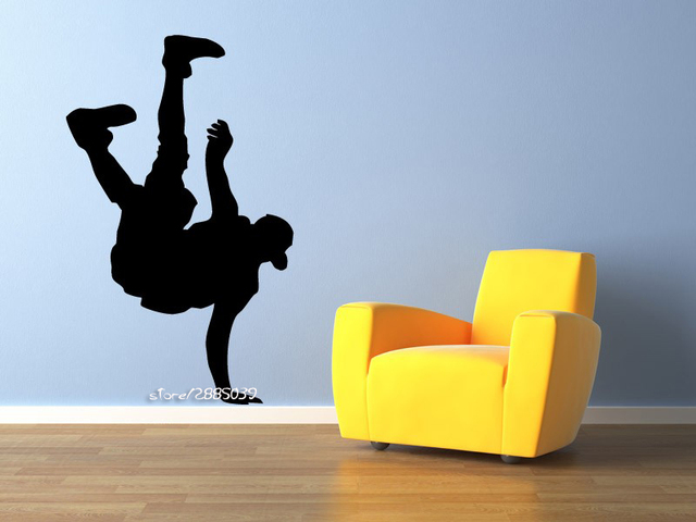 Dance Lover Vinyl Wall Stickers Gymnastics Wall Decals Wall Sticker Kids  Bedroom Or Playroom Decor Mural