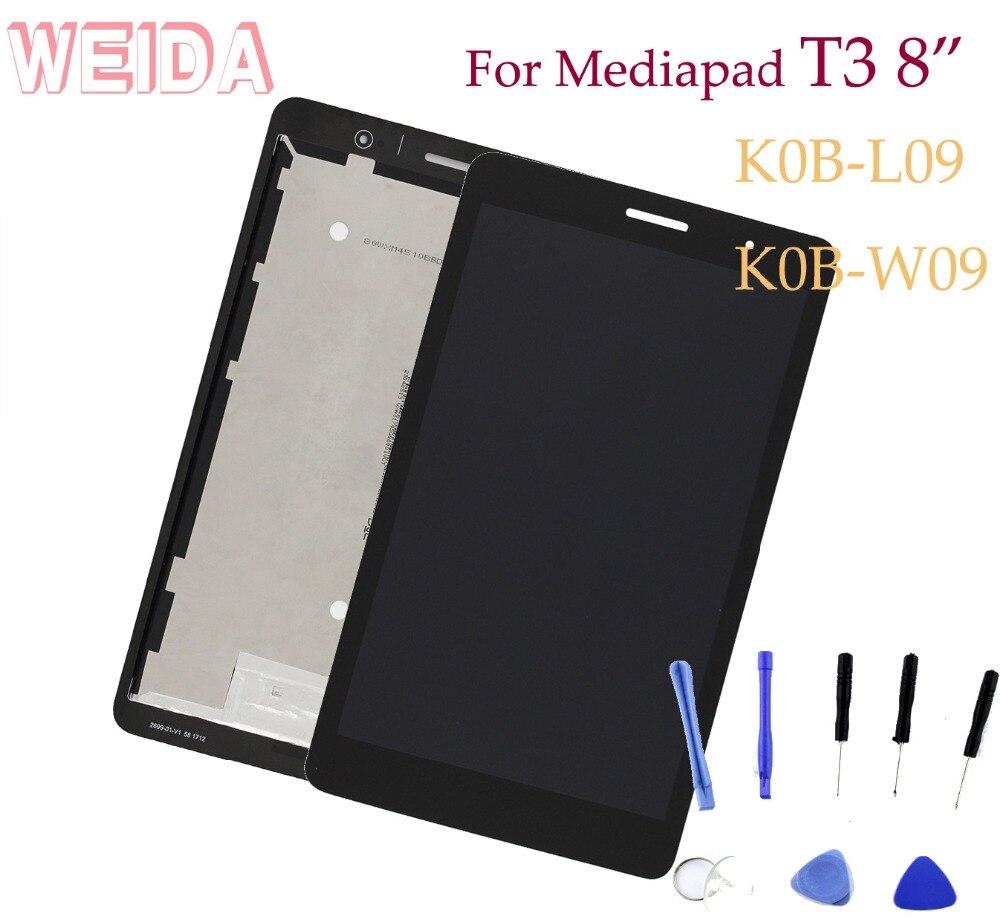 Сменный ЖК-дисплей WEIDA 8 дюймов для Huawei MediaPad T3 8,0, ЖК-дисплей с поддержкой Wi-Fi, сенсорный экран в сборе, телефон