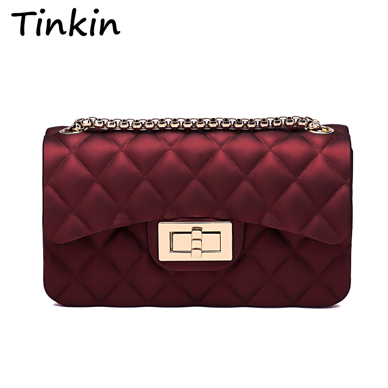 Tinkin New Arrival Summer Jelly Bag Small Best Party Time Bag Soft Silica Gel Sh