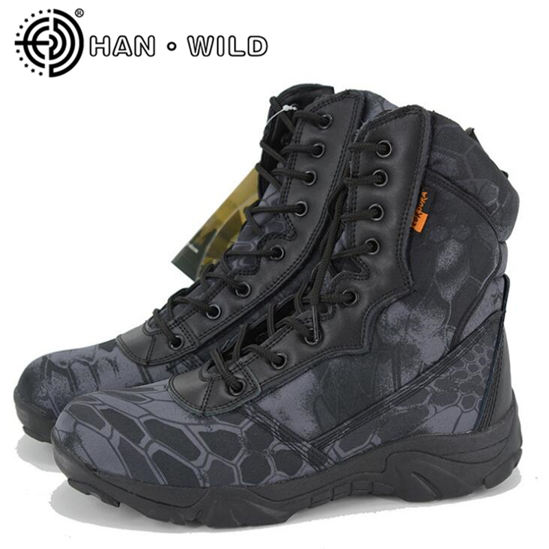 New Men Military Boots Special Force Tactical Desert Combat Boots Zipper Ankle Boats Camouflage Army Work Shoes Men Snow Boots outdoor tactical boots army combat military boots snow training boots men s hunting sports hiking boots desert camouflage shoes