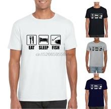 9576af39 EAT SLEEP FISH T-Shirt Unisex Adult Fishing Angling Carp T Shirt Tee Gift(