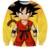 Clássico Anime Dragon Ball Z Camisola Manga Comprida Casacos Homens Hipster 3D Crewneck Pullovers Moletom Goku Super Saiyan