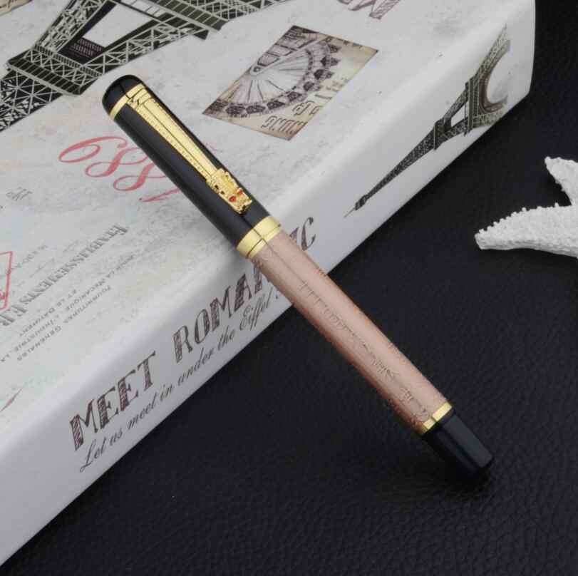 Sıcak satış marka ejderha kristal dolma kalem lüks İş erkekler Metal mürekkep kalem Luoshi 598 satın 2 kalem göndermek hediye